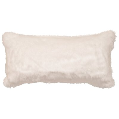 Faux Fur Lumbar Pillow Color: White Mink