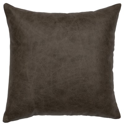 Saloon Square Leather Throw Pillow