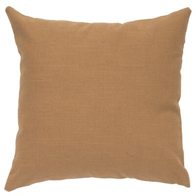 Close to Nature Linen Throw Pillow Color: Khaki