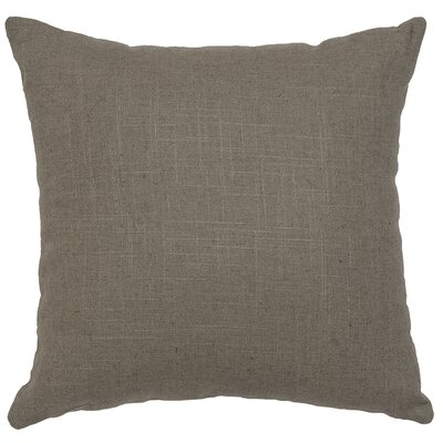 Raccoon Linen Throw Pillow Color: Gray