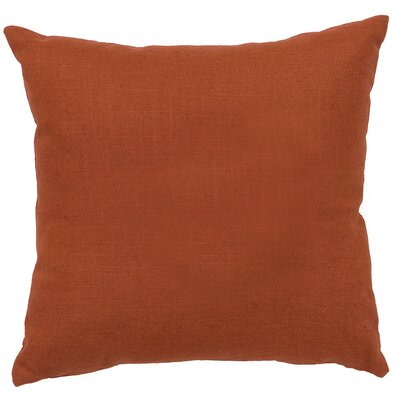 Close to Nature Linen Throw Pillow Color: Paprika