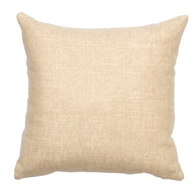 The Mountains are Calling Linen Throw Pillow Color: Natural