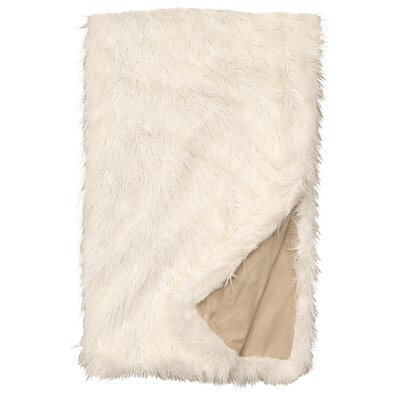 Topsfield Llama Snow Fur Throw