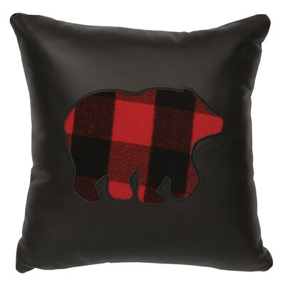 Shea Plaid Bear Throw Pillow