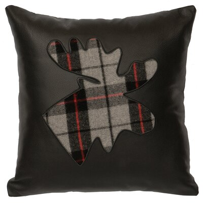 Shea Plaid Moose Throw Pillow