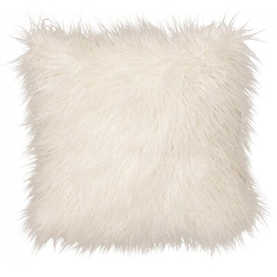 Topsfield Llama Snow Fur Lumbar Throw Pillow