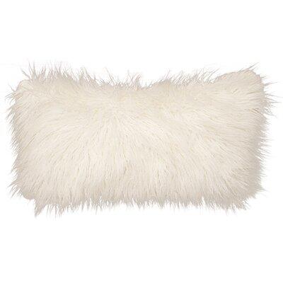 Topsfield Llama Snow Fur Lumbar Pillow