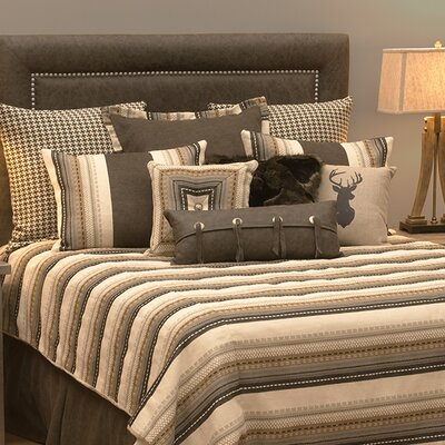 Graves 7 Piece Reversible Duvet Set Size: Queen