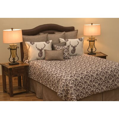 Tyson Deluxe 6 Piece Reversible Duvet Cover Set Size: Queen