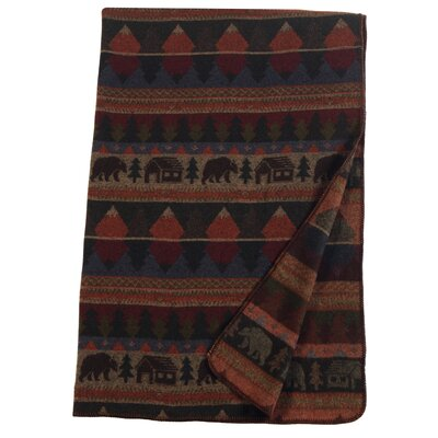 Cabin Bear Wool Throw