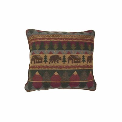 Cabin Bear Throw Pillow