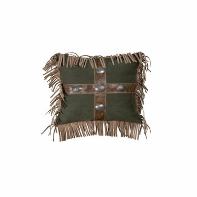 Mustang Canyon Raven Suede Throw Pillow