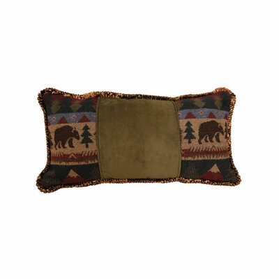Cabin Bear Cord Throw Pillow