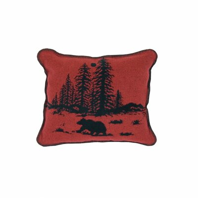 Wooded River Bear Throw Pillow