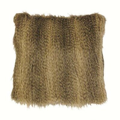 Bandera Raccoon Faux Fur Throw Pillow