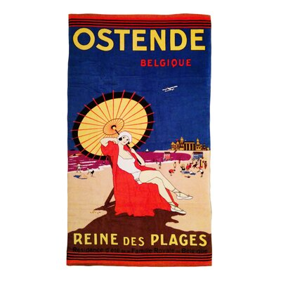 Summer Abroad Circa 1940S Coastal Glamour Woman Beach Towel