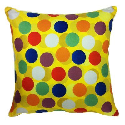 Summer Abroad Indoor/Outdoor Throw Pillow Fabric: Multi Dots, Size: 20 H x 20 W x 5.5 D