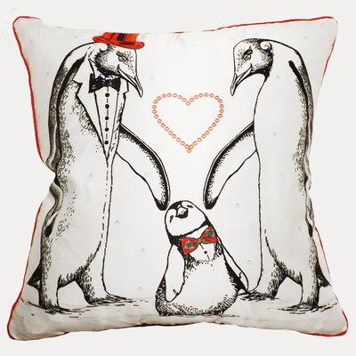 Happy Penguin Throw Pillow