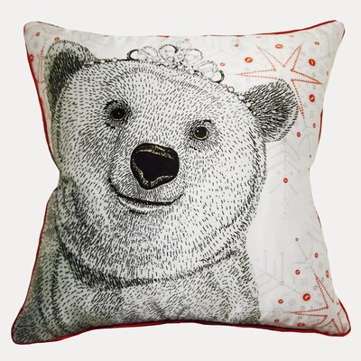 Polar Bear Queen Throw Pillow