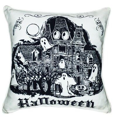 Halloween Haunted House Indoor/Outdoor Throw Pillow