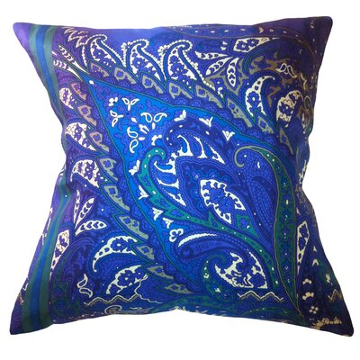 Fiore Vintage Prints Exploded Paisley Silk Throw Pillow Color: Piquant