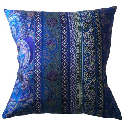 Fiore Vintage Prints Floral Stripe Silk Throw Pillow Color: Piquant
