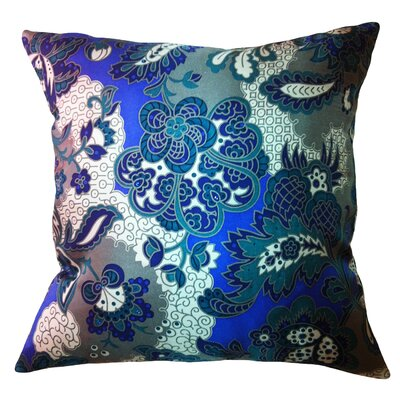 Fiore Vintage Prints Repeat Floral Silk Throw Pillow Color: Piquant
