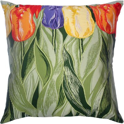 Flower Power Tulip Throw Pillow Color: Sage