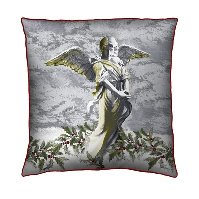 Holiday Elegance Angel Throw Pillow