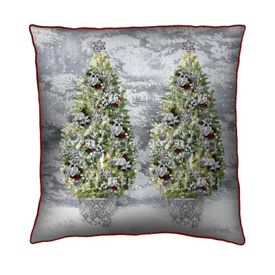 Holiday Elegance Trees Throw Pillow