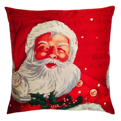 Holiday Elegance Santa Clause Pillow
