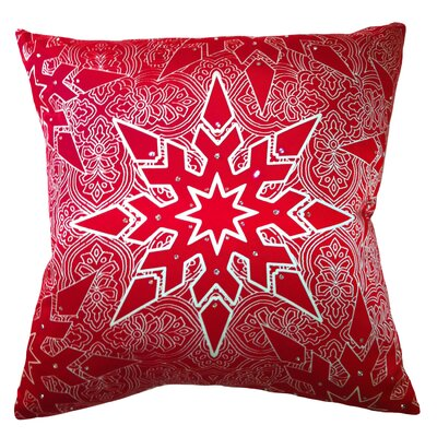 Holiday Elegance Star Silk Throw Pillow