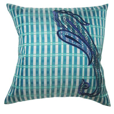Pillow Prep Throw Pillow Color: Turquoise
