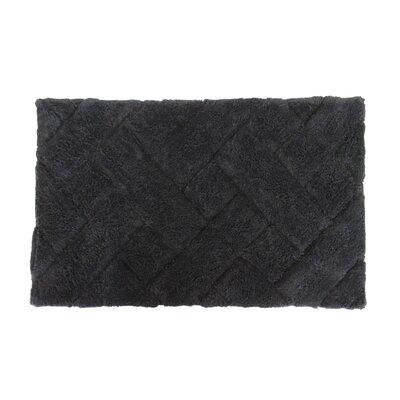 Basket Weave Bath Rug Color: Black