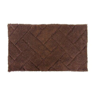 Basket Weave Bath Rug Color: Brown
