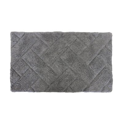 Basket Weave Bath Rug Color: Grey