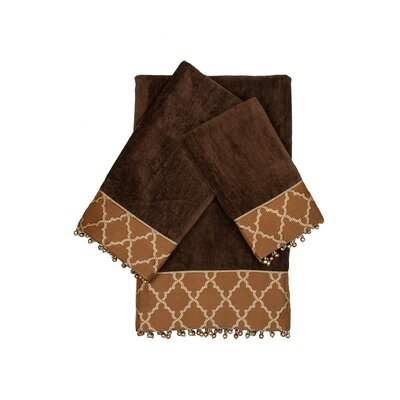 Somerset Decorative Embellished 3 Piece Towel Set
