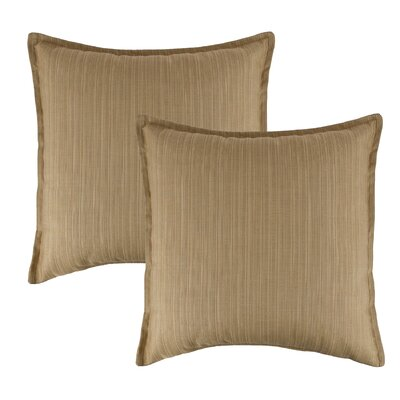 Dupione Bamboo Outdoor Sunbrella Throw Pillow