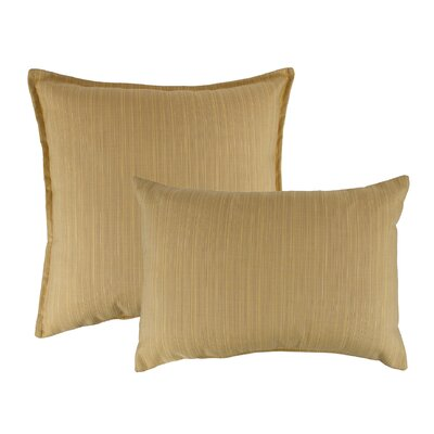 2 Piece Dupione Combo Outdoor Sunbrella Throw Pillow Set