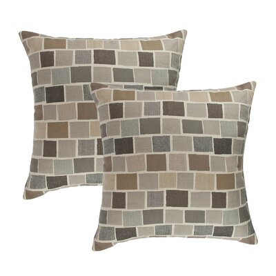 Blox Slate Outdoor Sunbrella Throw Pillow