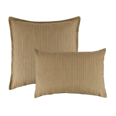 2 Piece Dupione Bamboo Combo Outdoor Pillow Set