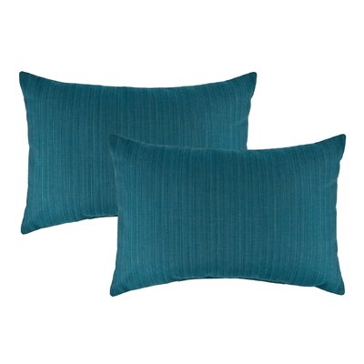 Dupione Outdoor Sunbrella Lumbar Pillow