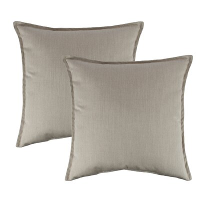 Canvas Flax Outdoor Sunbrella Throw Pillow