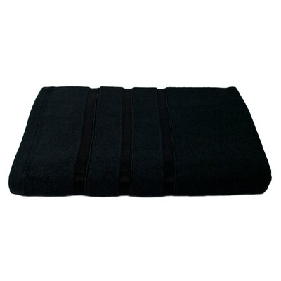 6 Piece Bath Towel Set Color: Black
