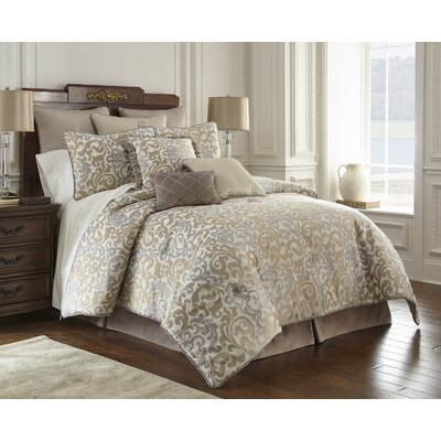 Elegance 4 Piece Luxury Comforter Set Size: Queen