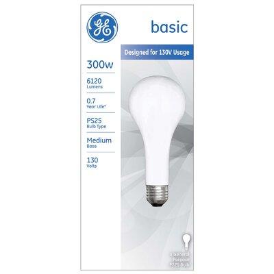 300W Frosted 130-Volt Incandescent Light Bulb