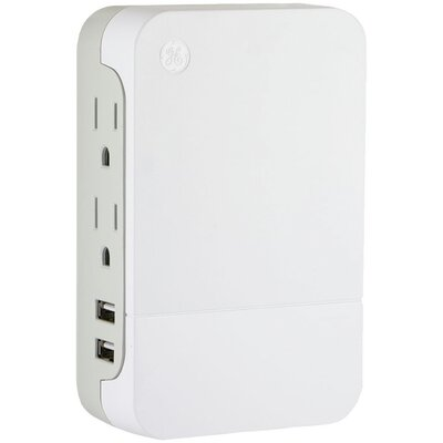 Side-Access Surge Protector Tap Wall Mounted Outlet