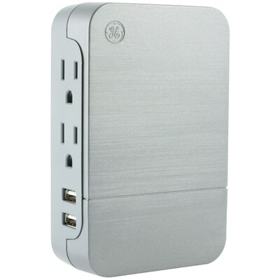 Surge-Protector Tap Wall Mounted Outlet
