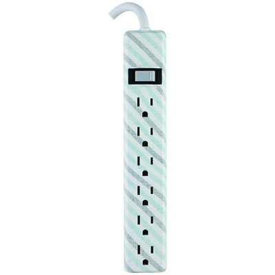 Patterned Power Strip Wall Mounted Outlet