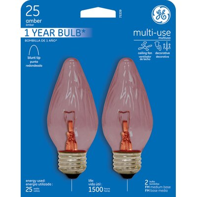 120-Volt (2400K) Incandescent Light Bulb Finish: Crystal Clear, Wattage: 25